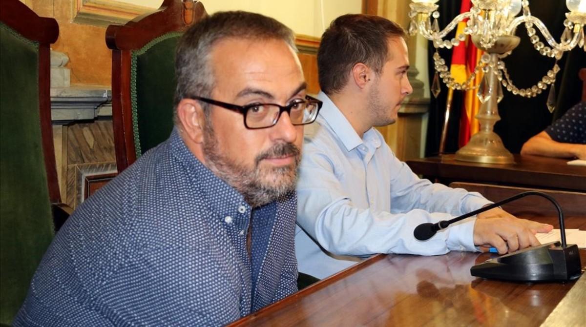 Martí Barberà, en primer término, nuevo director general de Atenció a la Família.