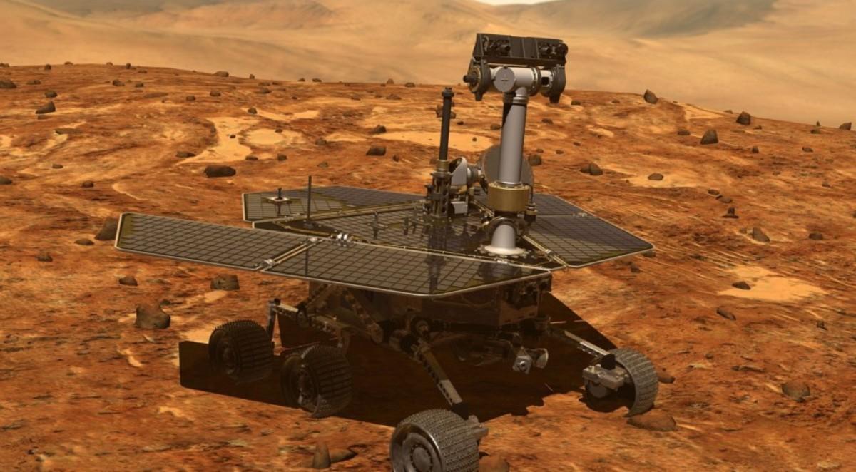 El robot Opportunity, de misión en Marte.