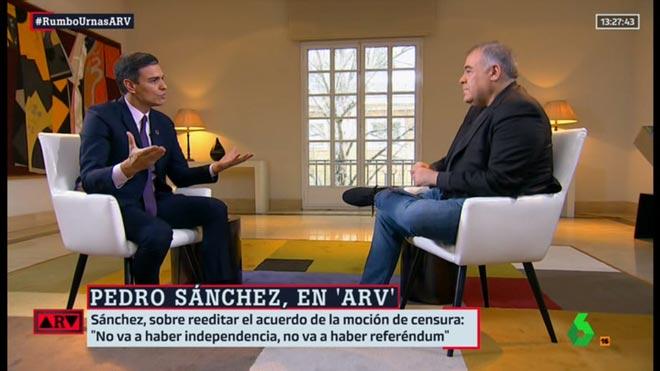 Sánchez entrevistado por Ferreras (ARV).