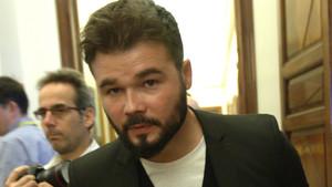 Gabriel Rufián, en los pasillos del Congreso.