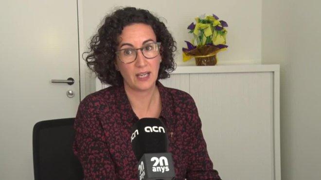 La secretaria general de ERC Marta Rovira habla de la confrontación con el estado, el diálogo y de la represión de España a el independentismo.