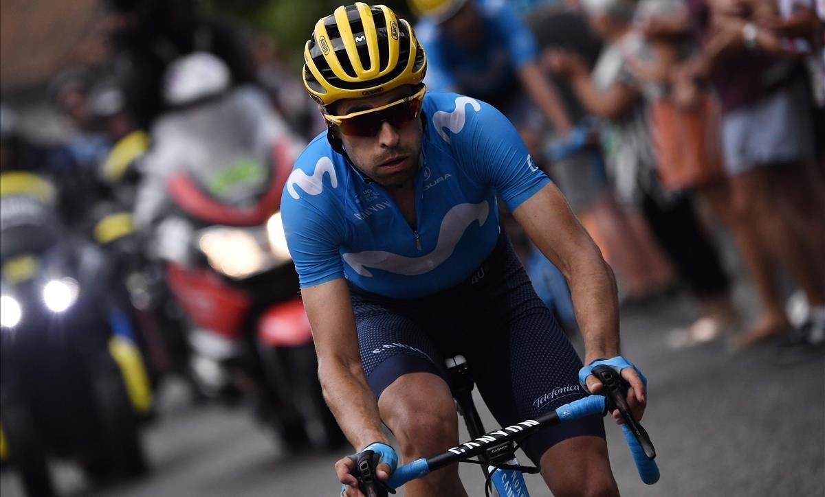 Mikel Landa, durante el Tour.