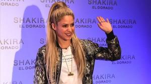 Shakira, en la presentación de su nuevodisco en el Convent dels Angels, el pasado mes de junio.