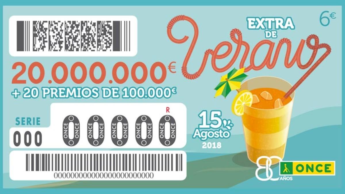 Sorteo Extra de Verano de la ONCE 2018.