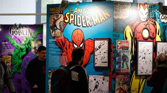 El guionista Stan Lee, fallecido en 2018, ocupa un lugar destacado en el Salón del Comic Barcelona.
