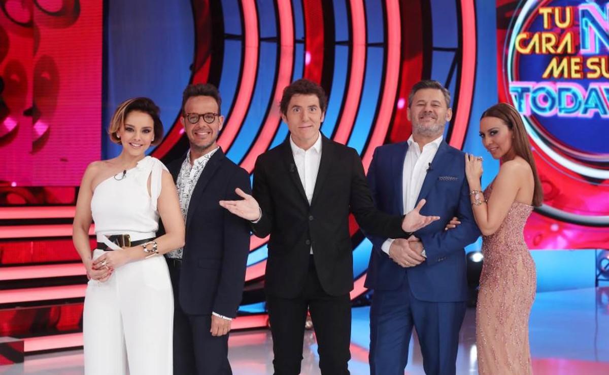 Chenoa, Àngel Llàcer, Manel Fuentes, MikiNadal y Mónica Naranjo, en el plató de 'Tu cara no me suena todavía' (Antena 3).