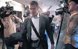 Toni Cantó, el pasado sábado, en el Consejo Político de UPD en Madrid.