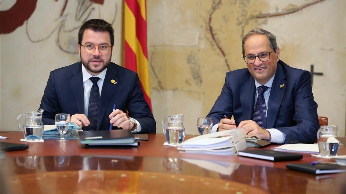 Torra y Aragonès, el pasado agosto.
