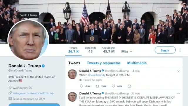 El president Donald Trump va utilitzar les xarxes socials per contestar al líder de Corea del Nord.
