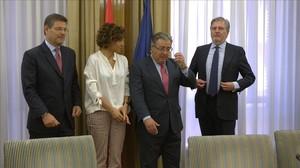 Reunión interministerial para impulsar el pacto de Estado contra la violencia machista.