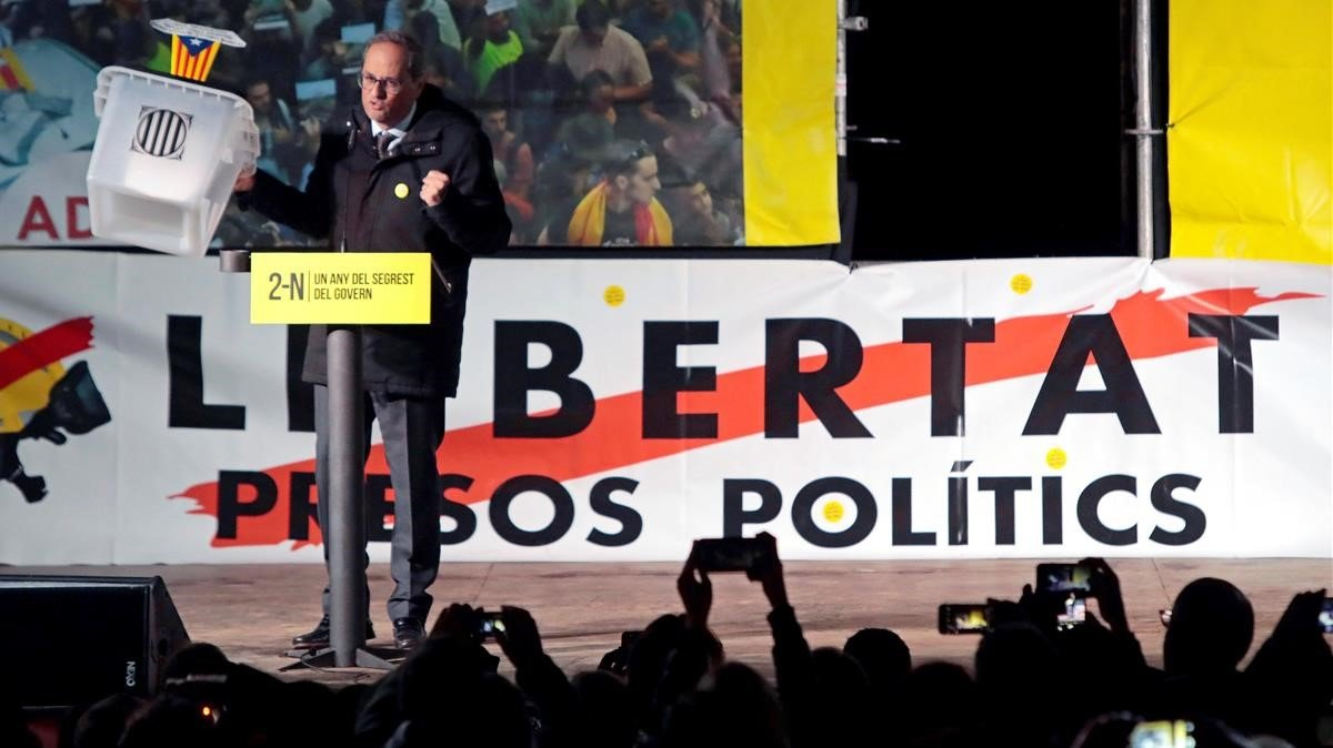"""Torra, a Sánchez: """"No votarem mai els Pressupostos"""""""