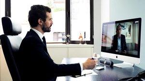 Casado, el pasado 4 de abril, mantiene una videoconferencia con el presidente de la Asociación de Trabajadores Autónomos, Lorenzo Amor.