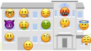 Tu comunidad de vecinos, en emoticonos