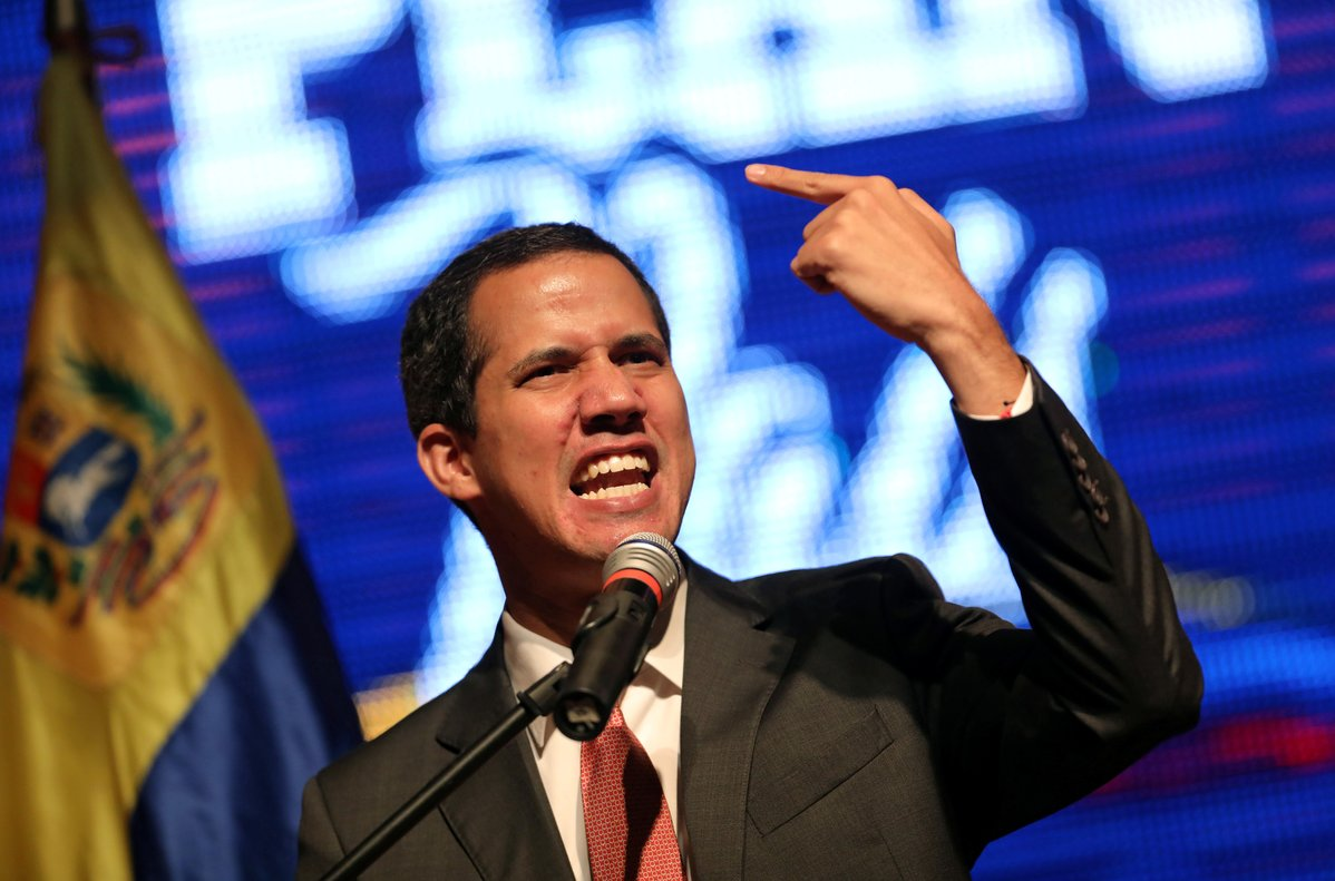 Venezuelan opposition leader Juan Guaido who many nations have recognised as the country s rightful interim ruler addresses the audience at the Metropolitan University in Caracas Venezuela June 19 2019 REUTERS Manaure Quintero NO RESALES NO ARCHIVES