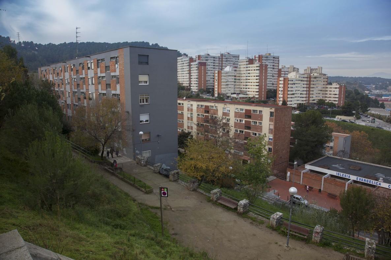 Vista panorámica del barrio de Ciutat Meridiana.