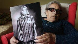 Neus Català, superviviente de los campos nazis, en una imagen del 2013.