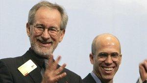Jeffrey Katzenbergy Steven Spielberg.