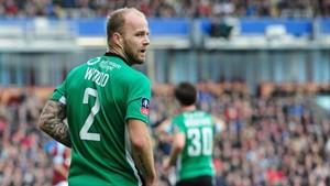 Bradley Wood, con la camiseta del Lincoln City.
