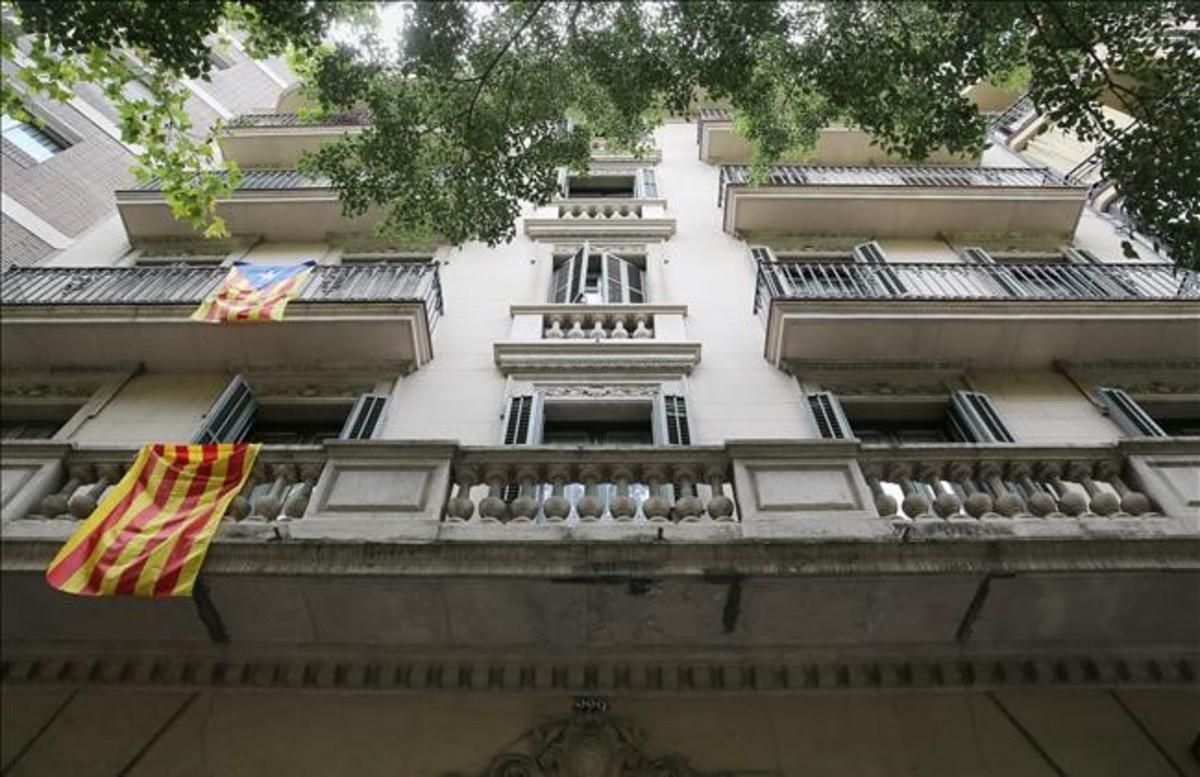 Una fachada de un edificio de Barcelona.