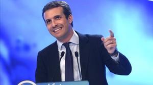 Pablo Casado durante su discurso.