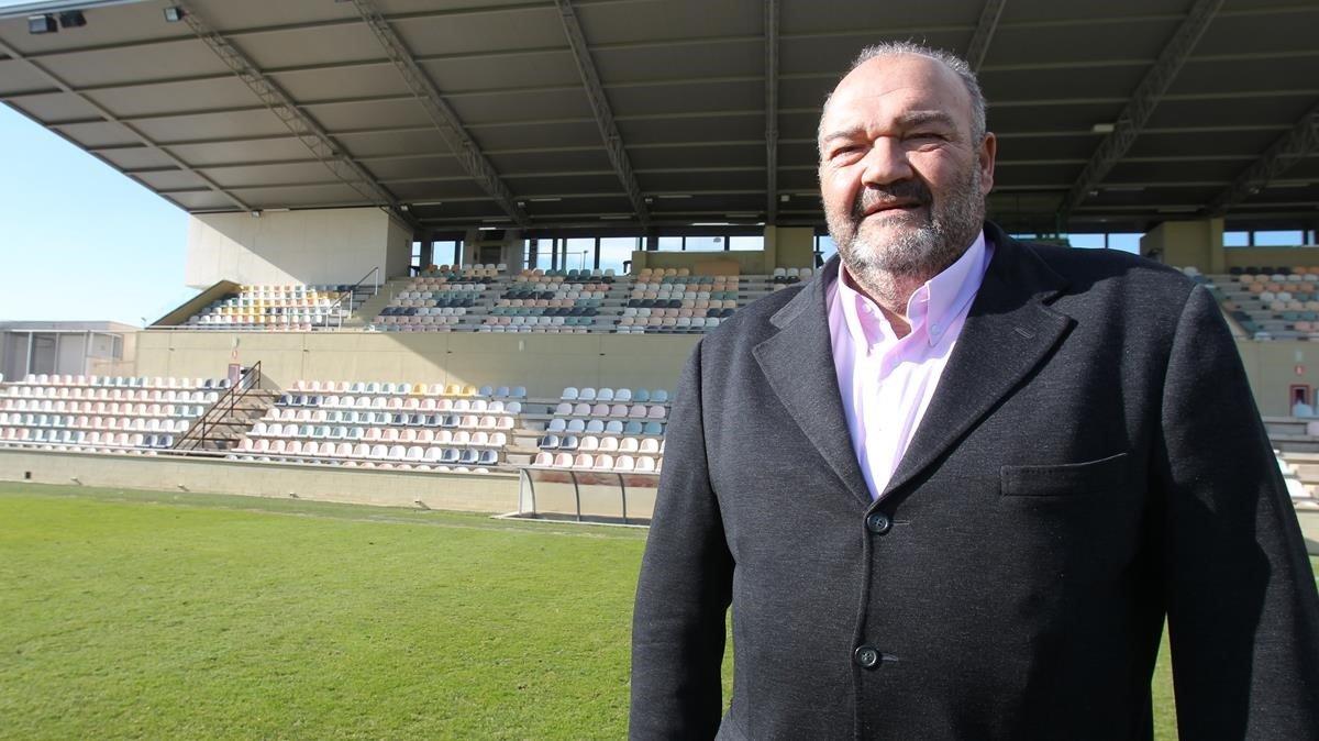 Joan Oliver, cuando aún podía pisarel estadio del Reus Deportiu.