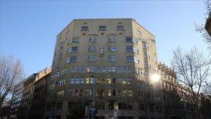 Edifico de la Conselleria de Justía, en Pau Claris (Barcelona).