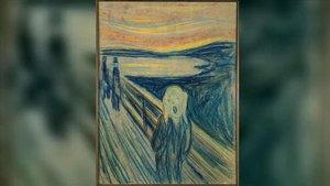 Una de las cuatro pinturas de la serie 'El grito', de Edvard Munch.