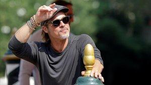 Brad Pitt, en Venecia, este jueves.
