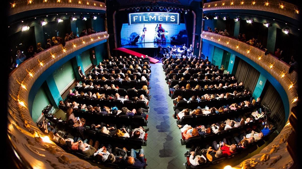 El Teatre Zorrilla durante la celebración del festival.