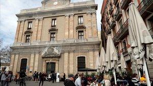 El edificio de la antigua Foneria dels Canons, junto a la Rambla.