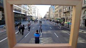 Barcelona obre 4,5 quilòmetres del carrer d'Aragó als vianants