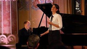 Kate Royal yJoseph Middleton en el recitalinaugural del LifeVictoria 2020.