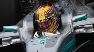 Lewis Hamilton (Mercedes), en su vuelta rápida de hoy en Canadá.