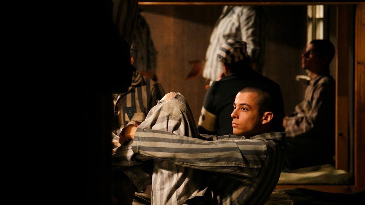 Momento del rodaje de El fotógrafo de Mauthausen.