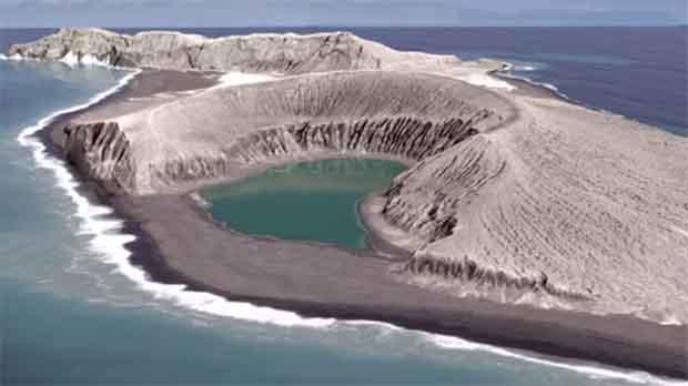 Nueva isla del Pacífico se está formando a partir de ceniza en Tonga