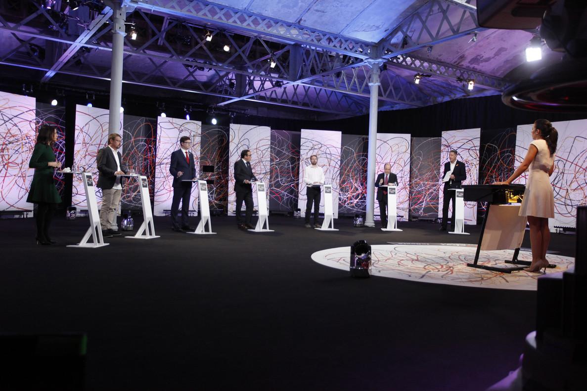 Imagen del debate electoral de La Sexta