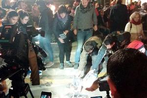 Queman fotos del Rey en Banyoles para celebrar la sentencia de Estrasburgo.
