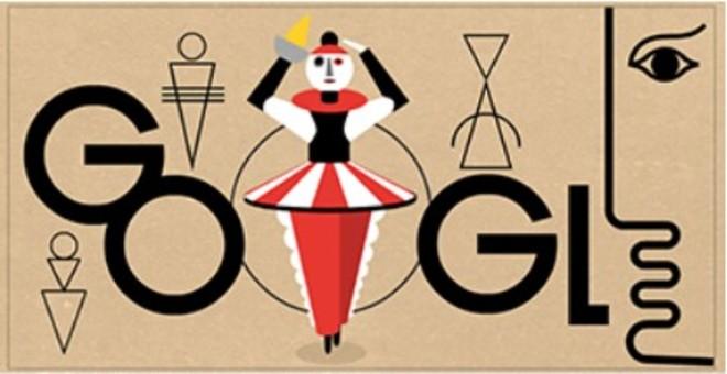 Doodle de Google dedicado a Oskar Schlemmer