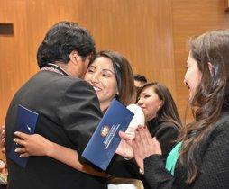 El mandatario presidió el juramento de 268 nuevos abogados en un acto en la sede del Gobierno boliviano en La Paz, entre los que estaba su hija Evaliz.