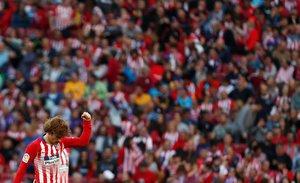 Griezmann celebra el primer gol del Atlético ante el Celta.