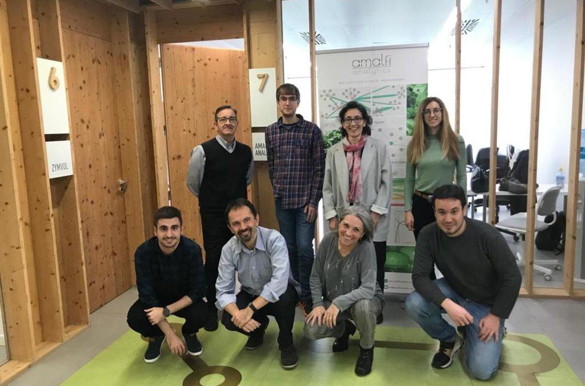 Miembros del equipo de Amalfi Analytics.