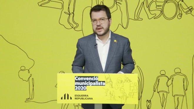 Aragonès llama a olvidar la austeridad para combatir las consecuencias del coronavirus.
