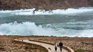 La bahía de Fornells, en Menorca.