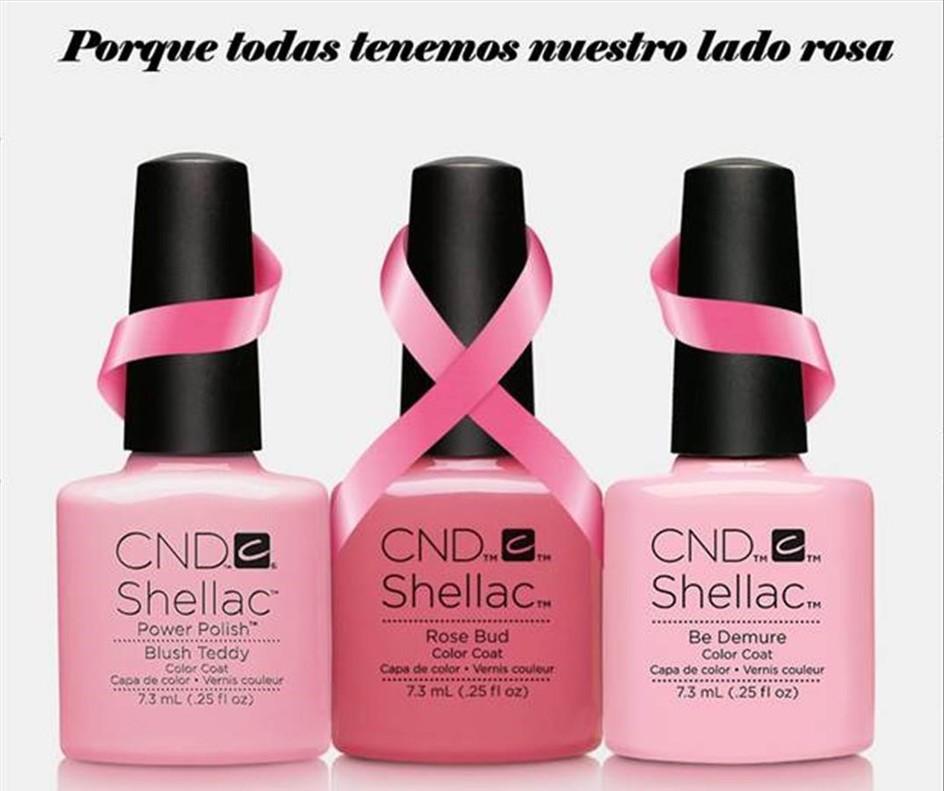 Vinyluxtambién colabora contra el cáncer de mama y por cada manicura o pedicura que se lleve a cabo en los salonesThe Pink Peony,se donarán 5 euros a la asociación.