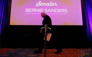 Un evento de campaña deBernie Sanders.