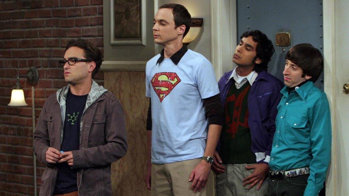 Johnny Galecki, Jim Parsons, Kunal Nayyar y Simon Helberg, en uno de los episodios de The Big Bang Theory.
