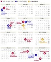 Calendario laboral 2019 Móstoles