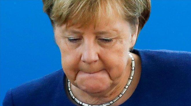 La cancillera Angela Merkel, este lunes.