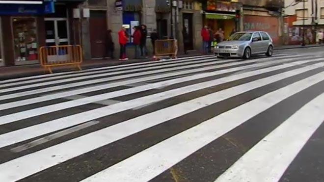 Cangas del Morrazo estrena un paso peatonal de 40 metros de largo.