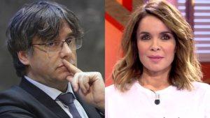 Carles Puigdemont y Carme Chaparro.